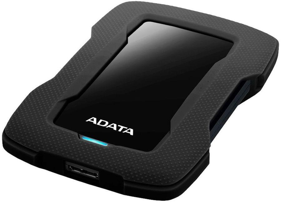 Внешний жесткий диск A-DATA DashDrive Durable HD330, 2Тб, черный [ahd330-2tu31-cbk]