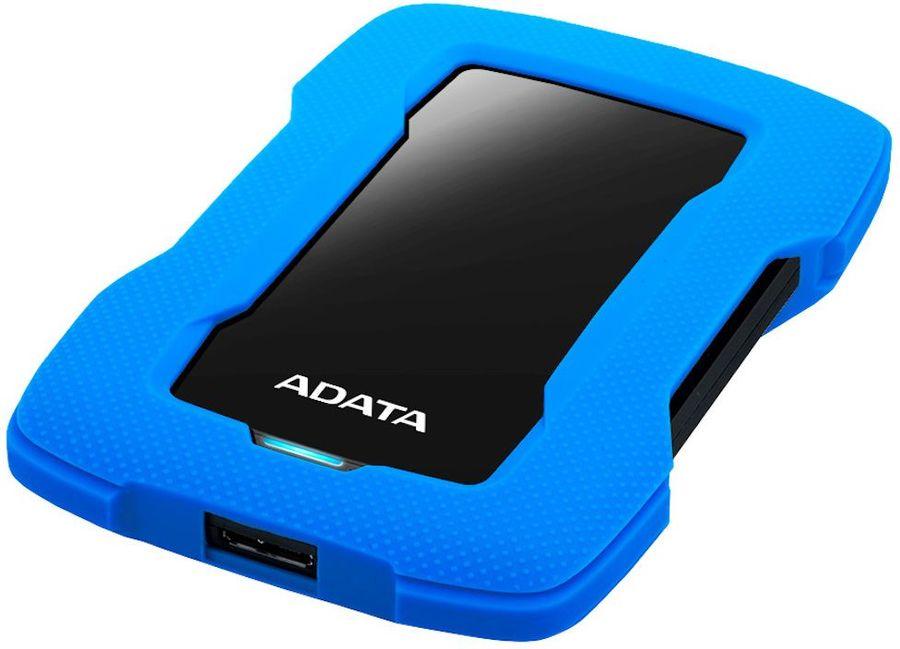 Внешний жесткий диск A-DATA DashDrive Durable HD330, 2Тб, синий [ahd330-2tu31-cbl]