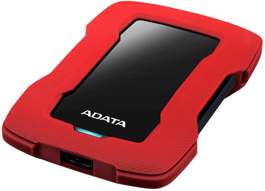 Внешний жесткий диск A-DATA DashDrive Durable HD330, 2Тб, красный [ahd330-2tu31-crd]