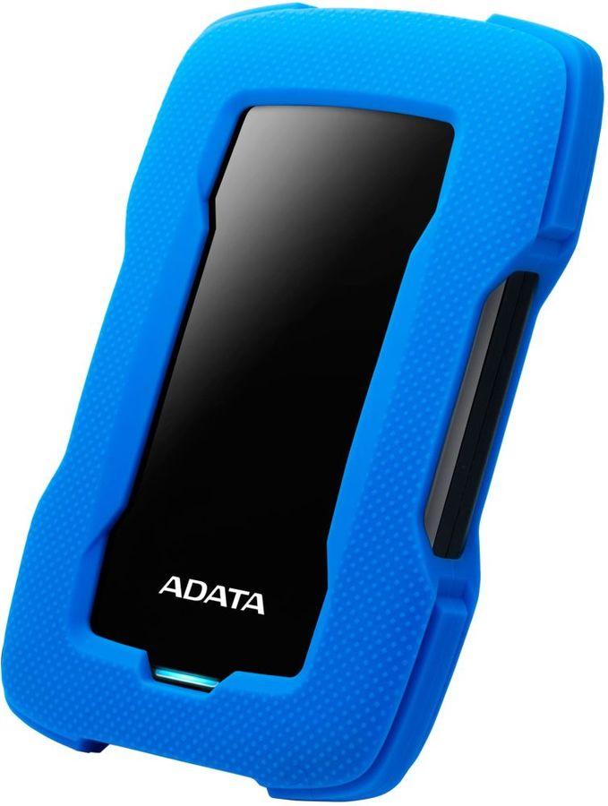 Внешний жесткий диск A-DATA DashDrive Durable HD330, 4Тб, синий [ahd330-4tu31-cbl]