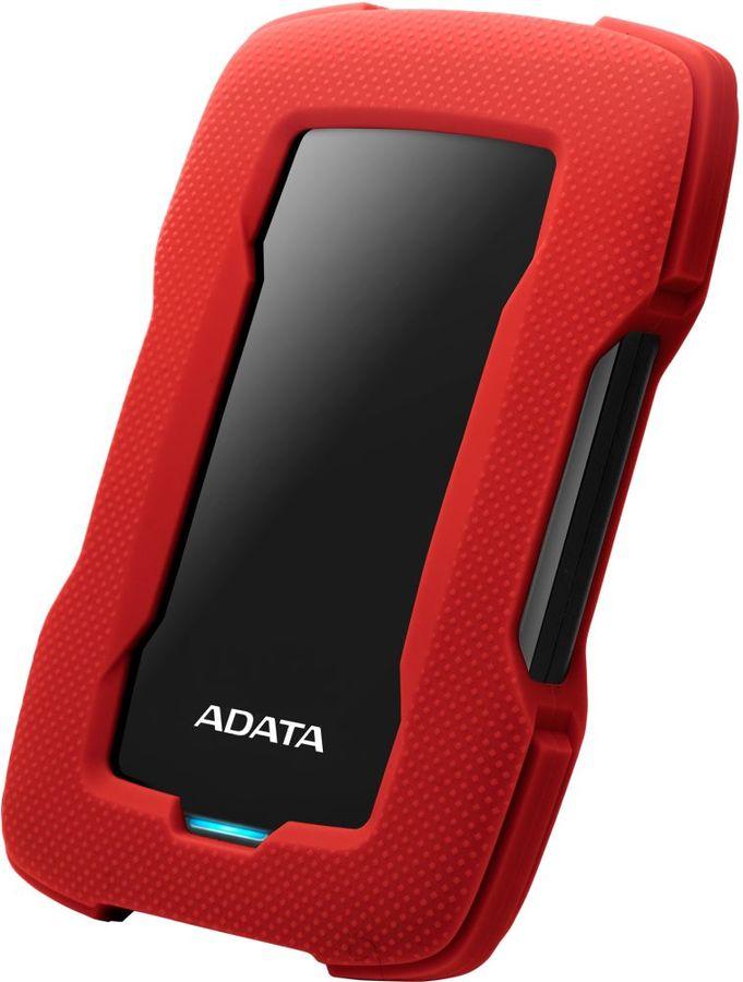 Внешний жесткий диск A-DATA DashDrive Durable HD330, 5Тб, красный [ahd330-5tu31-crd]