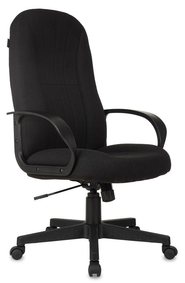 Кресло руководителя БЮРОКРАТ T-898, на колесиках, ткань, черный [t-898/3с11bl]