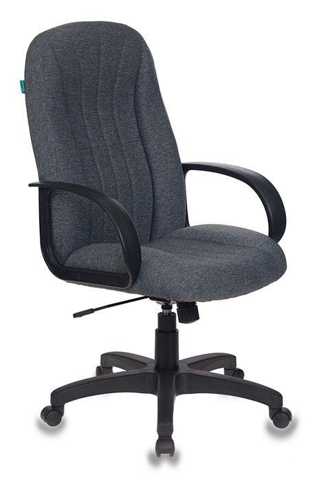 Кресло руководителя БЮРОКРАТ T-898, на колесиках, ткань, серый [t-898/3с1gr]