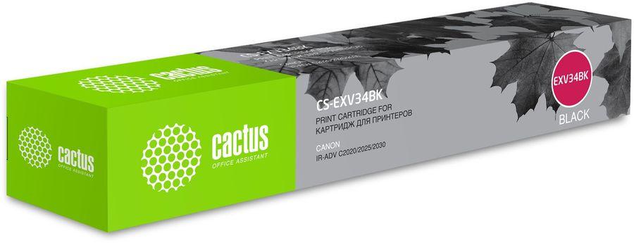 Картридж CACTUS CS-EXV34BK, черный