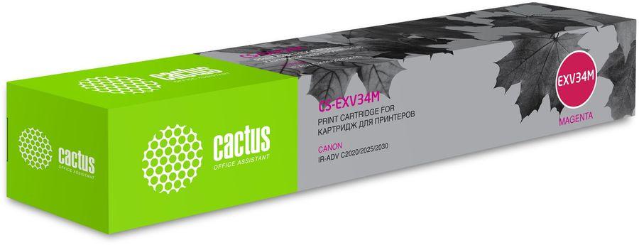 Картридж CACTUS CS-EXV34M, пурпурный