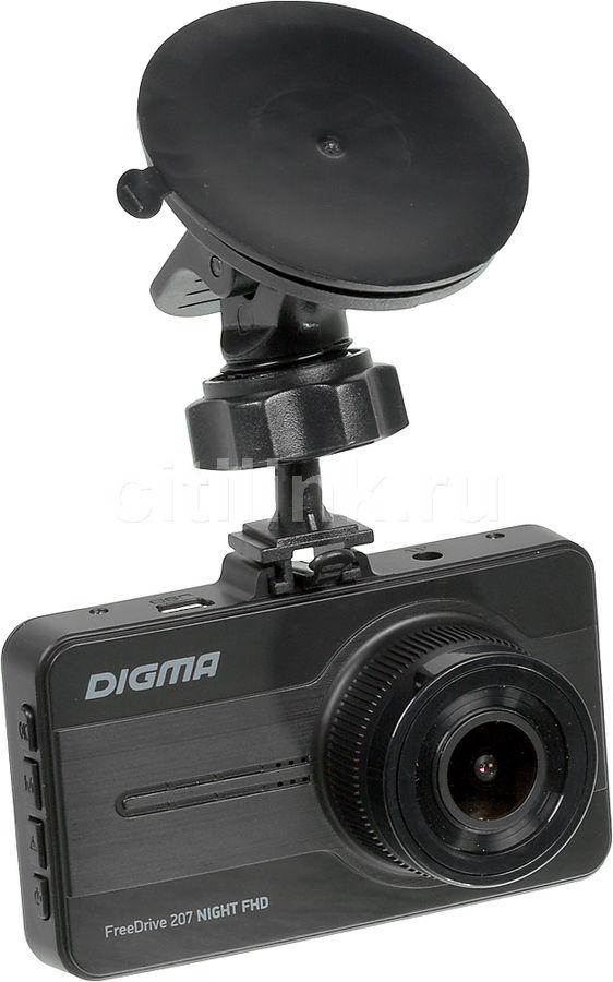 Видеорегистратор DIGMA FreeDrive 207 Night FHD,  черный