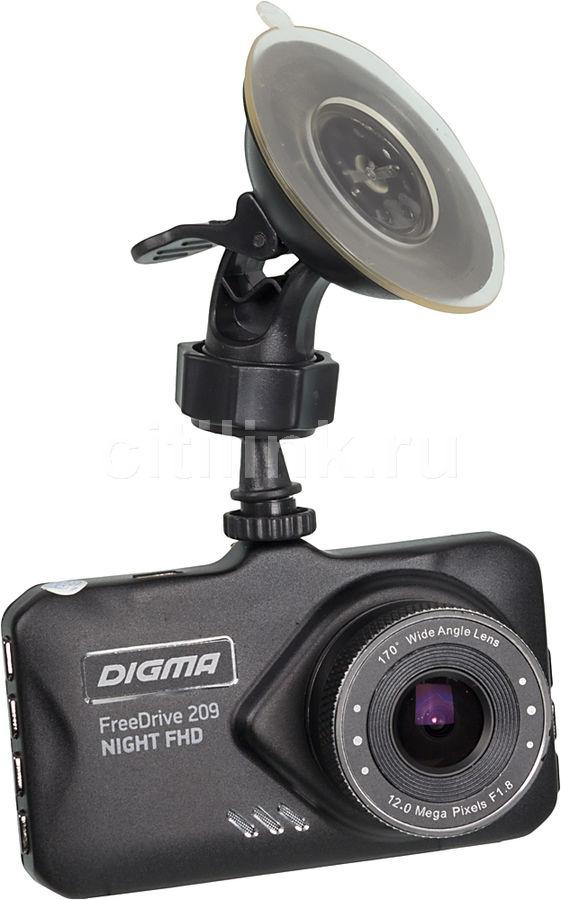 Видеорегистратор DIGMA FreeDrive 209 Night FHD,  черный