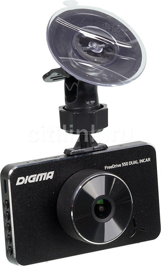 Видеорегистратор DIGMA FreeDrive 550 DUAL INCAR,  черный