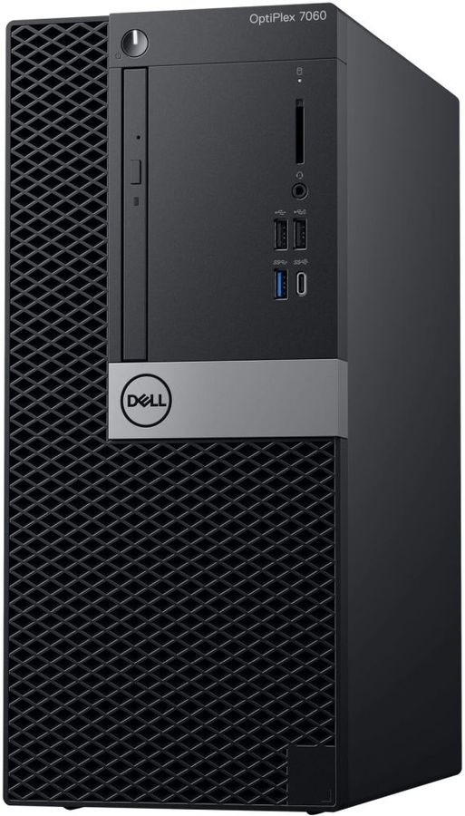 Компьютер  DELL Optiplex 7060,  Intel  Core i5  8500,  DDR4 8Гб, 1000Гб,  AMD Radeon R5 430 - 2048 Мб,  DVD-RW,  Windows 10 Professional,  черный и серебристый [7060-6122]