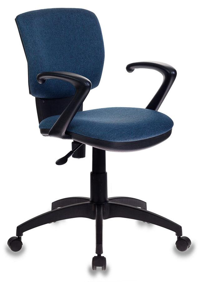 Кресло БЮРОКРАТ CH-636AXSN, на колесиках, ткань, синий [ch-636axsn/denim]