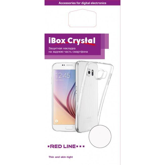 Чехол (клип-кейс) REDLINE iBox Crystal, для Samsung Galaxy A8, прозрачный [ут000014034]