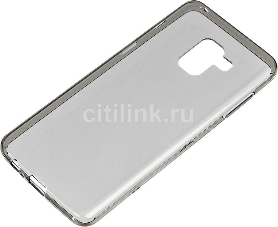 Чехол (клип-кейс) REDLINE iBox Crystal, для Samsung Galaxy A8, серый [ут000014035]
