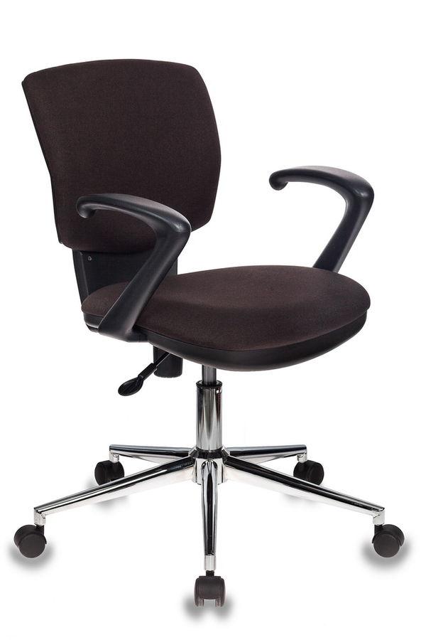 Кресло БЮРОКРАТ CH-636AXSL, на колесиках, ткань, темно-коричневый [ch-636axsl/brown]