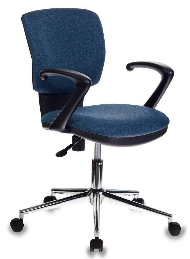 Кресло БЮРОКРАТ CH-636AXSL, на колесиках, ткань, синий [ch-636axsl/denim]