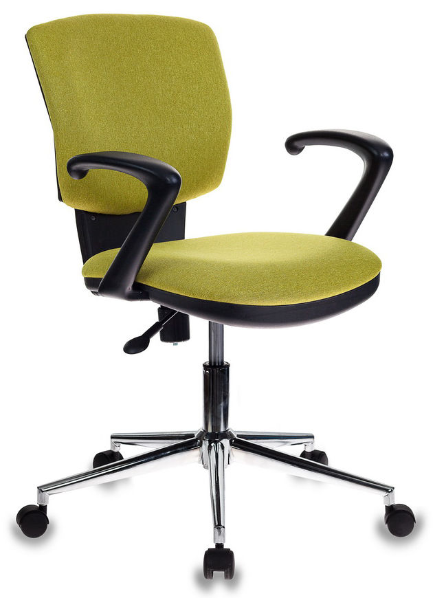 Кресло БЮРОКРАТ CH-636AXSL, на колесиках, ткань, зеленый [ch-636axsl/green]