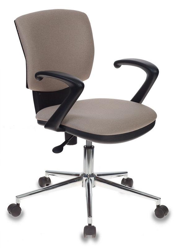 Кресло БЮРОКРАТ CH-636AXSL, на колесиках, ткань, бежевый [ch-636axsl/beige]