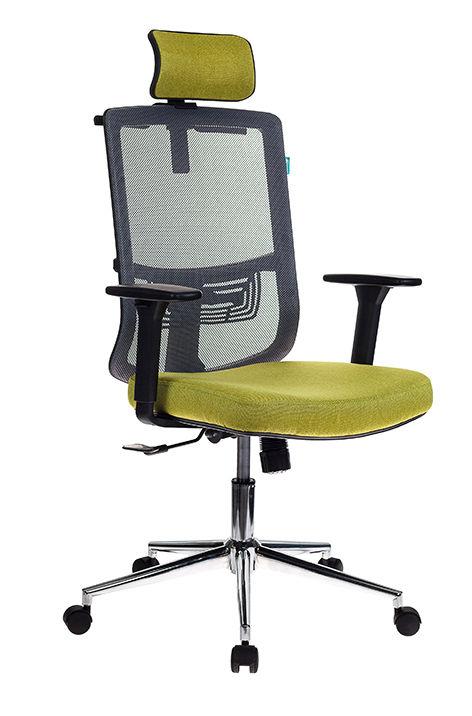 Кресло руководителя БЮРОКРАТ MC-612-H, на колесиках, зеленый/серый [mc-612-h/dg/green]