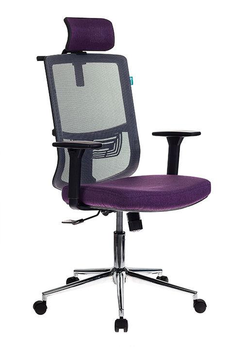 Кресло руководителя БЮРОКРАТ MC-612-H, на колесиках, сетка/ткань, фиолетовый/серый [mc-612-h/dg/violet]