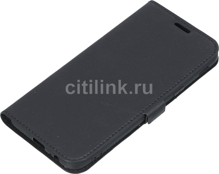Чехол (флип-кейс) DF sFlip-32, для Samsung Galaxy J6 (2018), черный