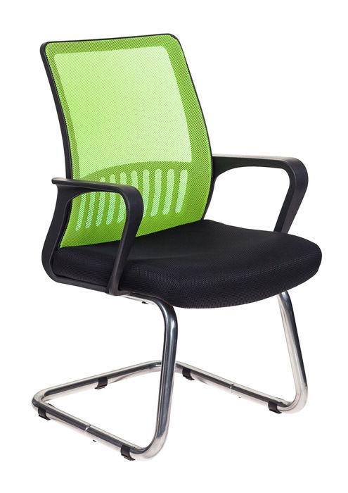 Кресло БЮРОКРАТ MC-209, на полозьях, сетка/ткань, салатовый/черный [mc-209/sd/tw-11]