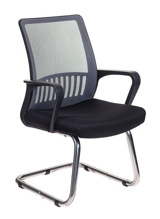 Кресло БЮРОКРАТ MC-209, на полозьях, сетка/ткань, серый/черный [mc-209/dg/tw-11]