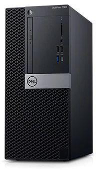 Компьютер  DELL Optiplex 7060,  Intel  Core i7  8700,  DDR4 8Гб, 1000Гб,  AMD Radeon RX 550 - 4096 Мб,  DVD-RW,  Windows 10 Professional,  черный и серебристый [7060-7700]