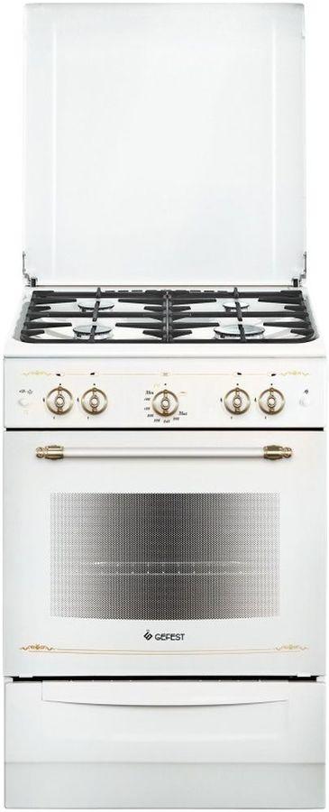 Газовая плита GEFEST ПГ 6100-02 0185,  газовая духовка,  белый