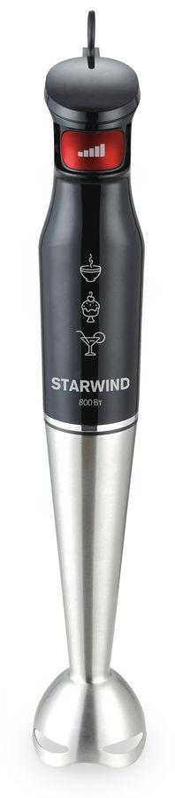 Блендер STARWIND SBS3432b,  погружной,  черный/красный
