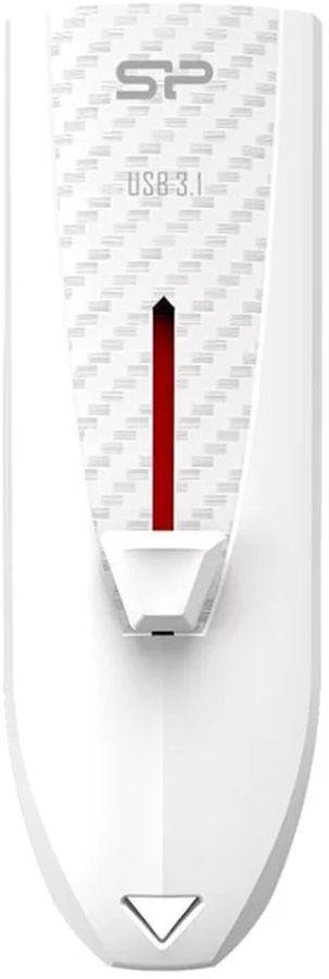 Флешка USB SILICON POWER Blaze B25 8Гб, USB3.0, белый [sp008gbuf3b25v1w]