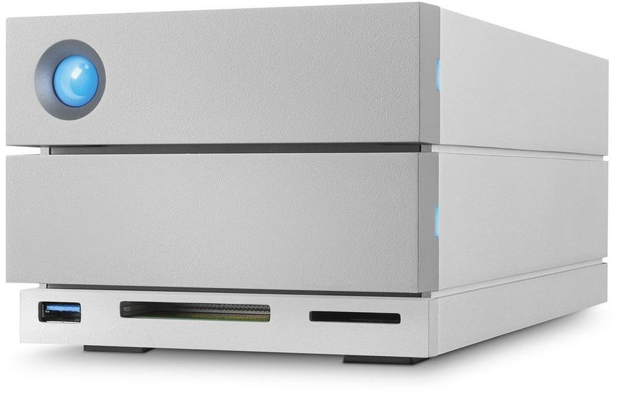 Внешний жесткий диск LACIE 2big Dock STGB16000400, 16Тб, серебристый