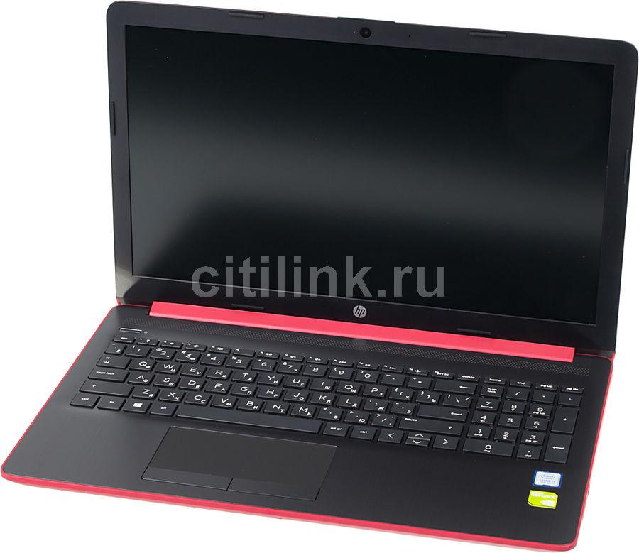 """Ноутбук HP 15-da0100ur, 15.6"""",  Intel  Core i3  7020U 2.3ГГц, 8Гб, 1000Гб,  nVidia GeForce  Mx110 - 2048 Мб, Windows 10, 4JY21EA,  красный"""