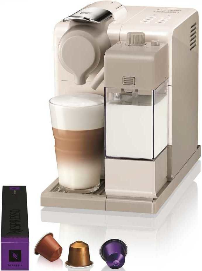 Капсульная кофеварка DELONGHI Nespresso Inissia EN560.W, 1400Вт, цвет: белый [0132193308]