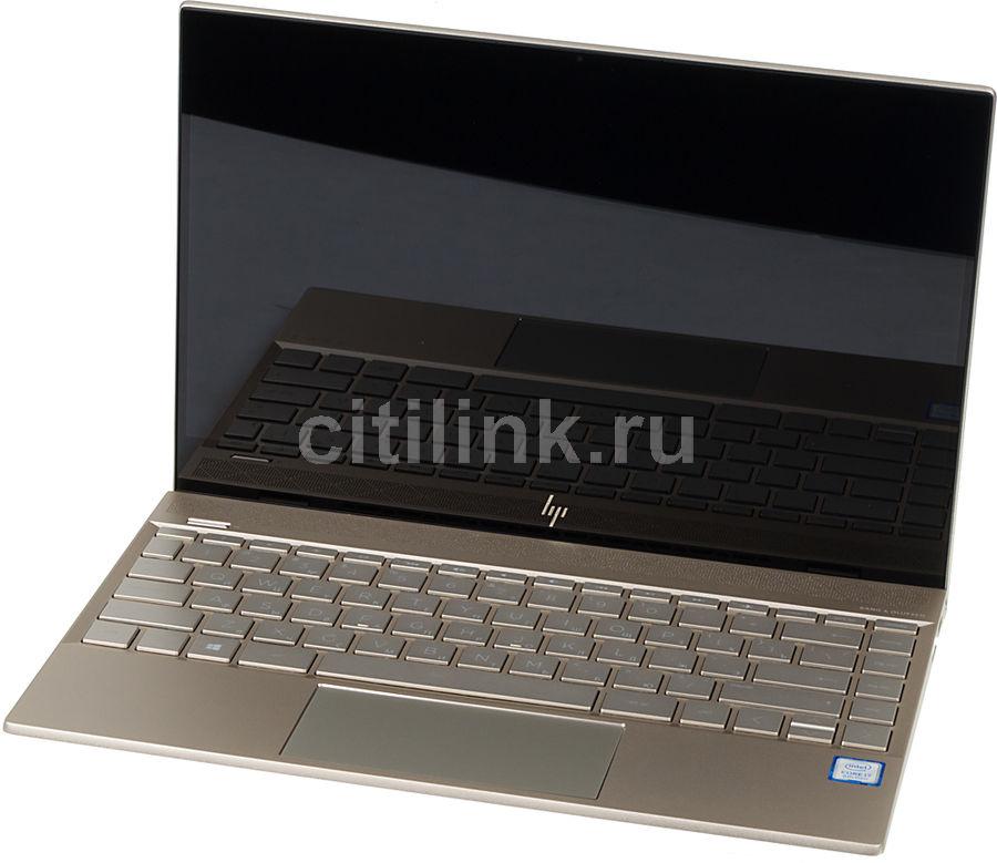 """Ноутбук HP Envy 13-ah0007ur, 13.3"""",  IPS, Intel  Core i7  8550U 1.8ГГц, 8Гб, 256Гб SSD,  Intel UHD Graphics  620, Windows 10, 4HF15EA,  золотистый"""