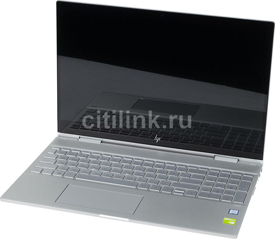 """Ноутбук-трансформер HP Envy x360 15-cn0008ur, 15.6"""",  IPS, Intel  Core i5  8250U 1.6ГГц, 16Гб, 1000Гб,  256Гб SSD,  nVidia GeForce  Mx150 - 4096 Мб, Windows 10, 4HC88EA,  серебристый"""