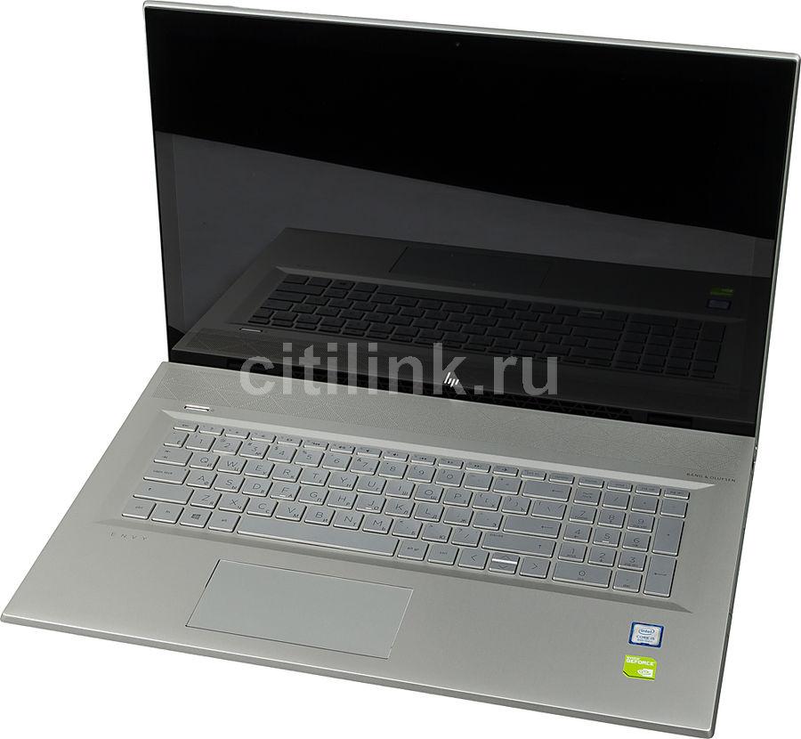 "Ноутбук HP Envy 17-bw0002ur, 17.3"",  IPS, Intel  Core i5  8250U 1.6ГГц, 8Гб, 1000Гб,  128Гб SSD,  nVidia GeForce  Mx150 - 2048 Мб, DVD-RW, Windows 10, 4GV26EA,  серебристый"