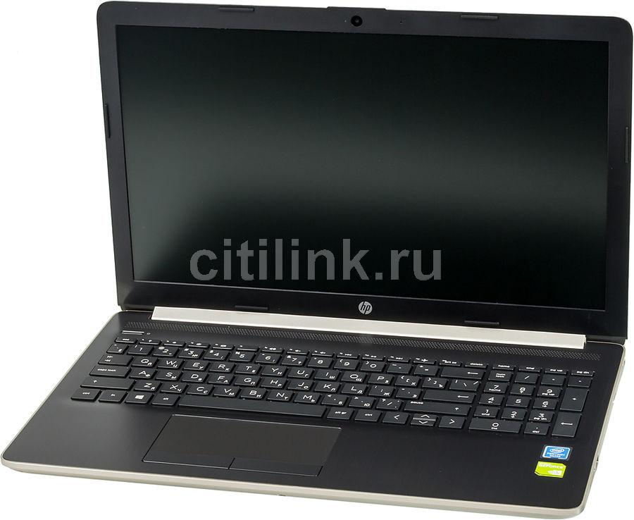 "Ноутбук HP 15-da0051ur, 15.6"",  Intel  Pentium Silver  N5000 1.1ГГц, 4Гб, 500Гб,  nVidia GeForce  Mx110 - 2048 Мб, DVD-RW, Windows 10, 4GL31EA,  золотистый"