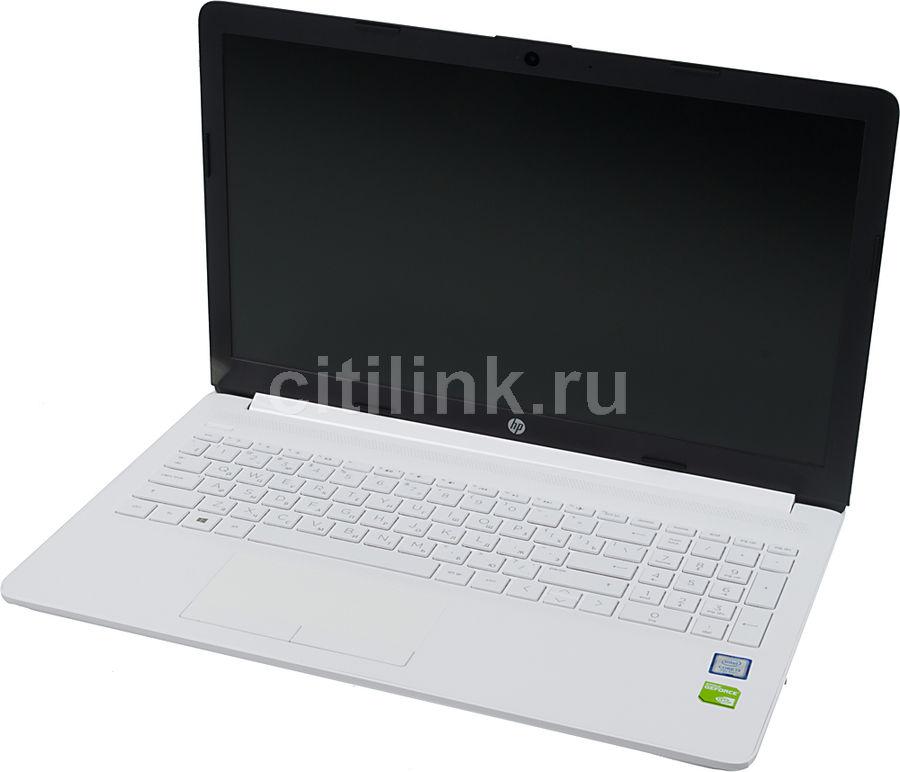 """Ноутбук HP 15-da0075ur, 15.6"""",  Intel  Core i3  7020U 2.3ГГц, 4Гб, 500Гб,  Intel HD Graphics  620, Windows 10, 4KG80EA,  белый"""
