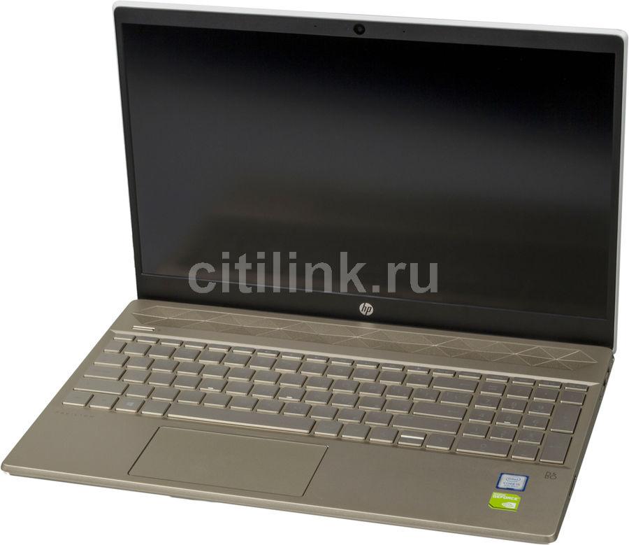"""Ноутбук HP Pavilion 15-cs0023ur, 15.6"""",  IPS, Intel  Core i5  8250U 1.6ГГц, 4Гб, 16Гб Intel Optane,  1000Гб,  nVidia GeForce  Mx150 - 2048 Мб, Windows 10, 4JU98EA,  розовое золото"""
