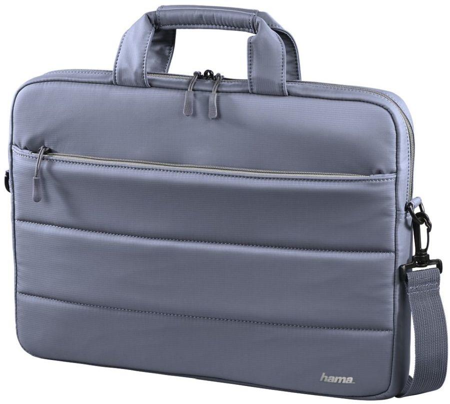 """Сумка для ноутбука 15.6"""" HAMA Toronto, серый/голубой [00101851]"""