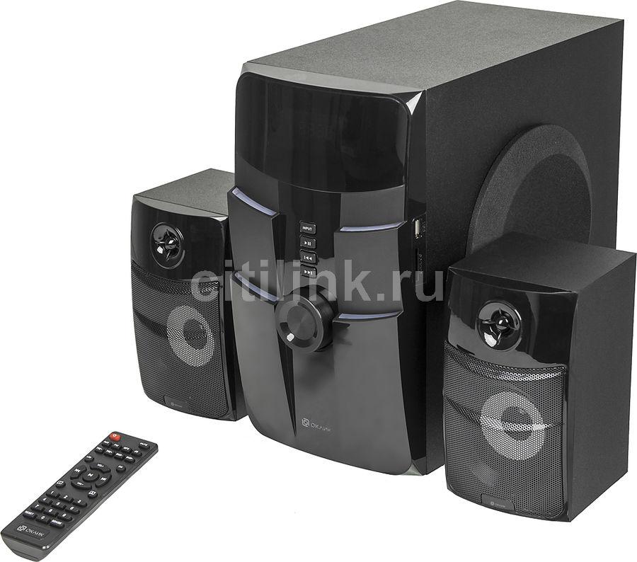 Колонки Bluetooth OKLICK OK-440,  2.1,  черный [bt3188]