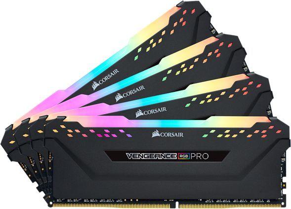 Модуль памяти CORSAIR Vengeance RGB Pro CMW32GX4M4C3000C15 DDR4 -  4x 8Гб 3000, DIMM,  Ret