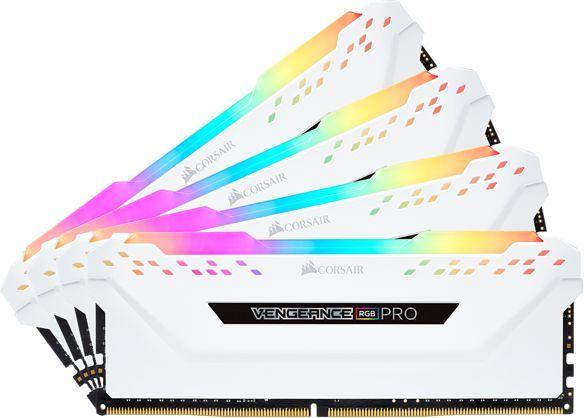 Модуль памяти CORSAIR Vengeance RGB Pro CMW32GX4M4C3000C15W DDR4 -  4x 8Гб 3000, DIMM,  Ret