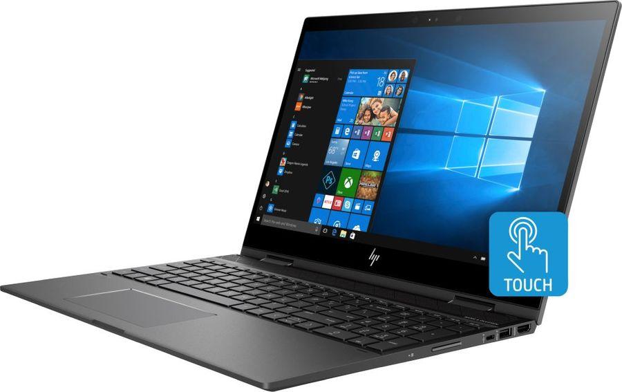 "Ноутбук-трансформер HP Envy x360 15-cp0010ur, 15.6"",  AMD  Ryzen 7  2700U 2.2ГГц, 8Гб, 1000Гб,  128Гб SSD,  AMD Radeon  Vega 10, Windows 10, 4TT99EA,  темно-серебристый"