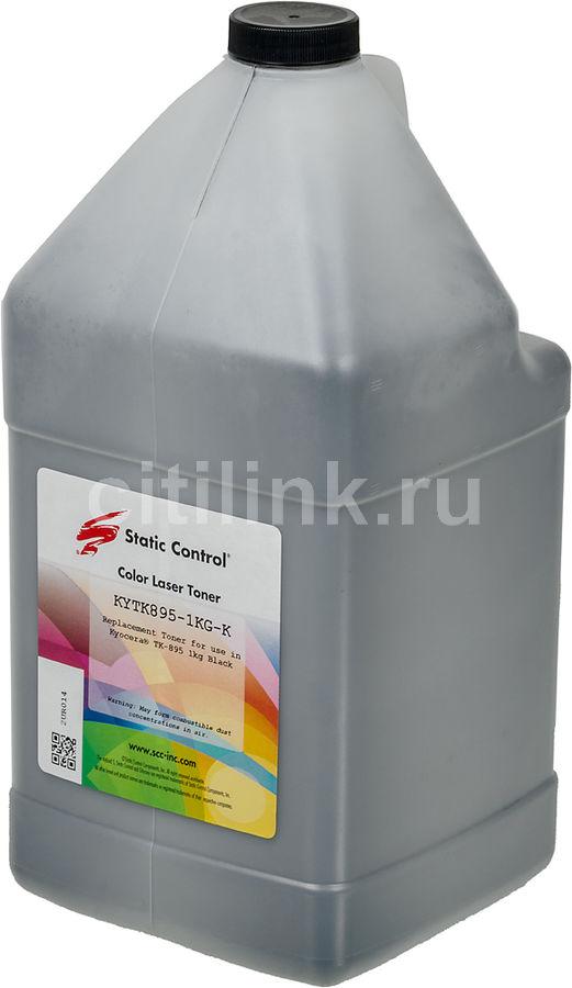 Тонер STATIC CONTROL KYTK895-1KG-K,  для Kyocera Mita FS C8020/C8025/C8520,  черный, 1000грамм, флакон