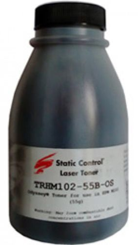 Тонер STATIC CONTROL TRHM102-55B-OS,  для HP LJ M104/M132,  черный, 55грамм, флакон