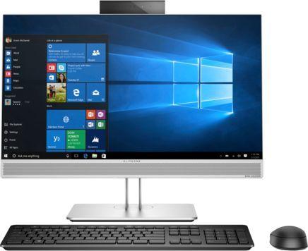 "Моноблок HP AIO 800 G3, 23.8"", Intel Core i5 7500, 8Гб, 1000Гб, Intel HD Graphics 630, DVD-RW, Windows 10 Professional, серебристый [1ka81ea]"