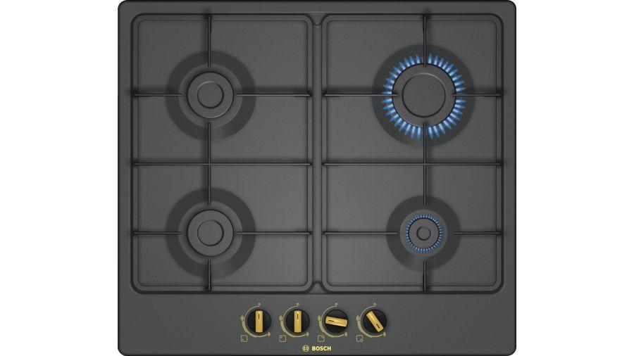 Варочная панель BOSCH PGP6B3B60R,  независимая,  черный