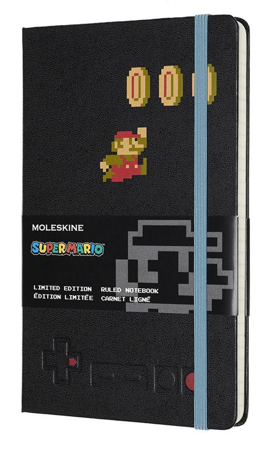 Блокнот Moleskine LE SUPER MARIO Large 130х210мм 240стр. линейка черный Mario in Motion