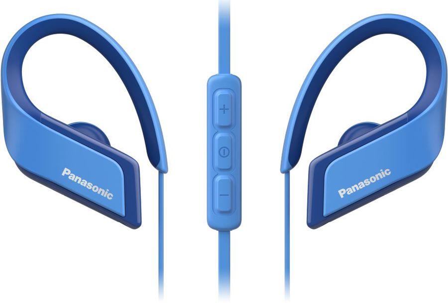 Наушники с микрофоном PANASONIC RP-BTS35GC, Bluetooth, вкладыши, синий [rp-bts35gc-a]