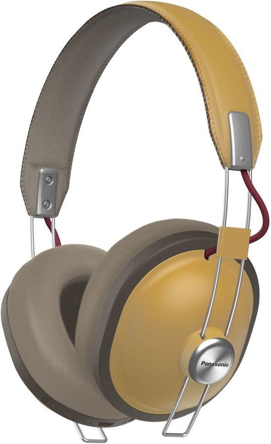 Наушники с микрофоном PANASONIC RP-HTX80BGC, Bluetooth, мониторы, охра [rp-htx80bgcc]